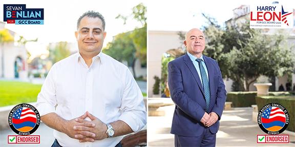 ANCA Glendale Announces Endorsements for GCC Board of Trustees
