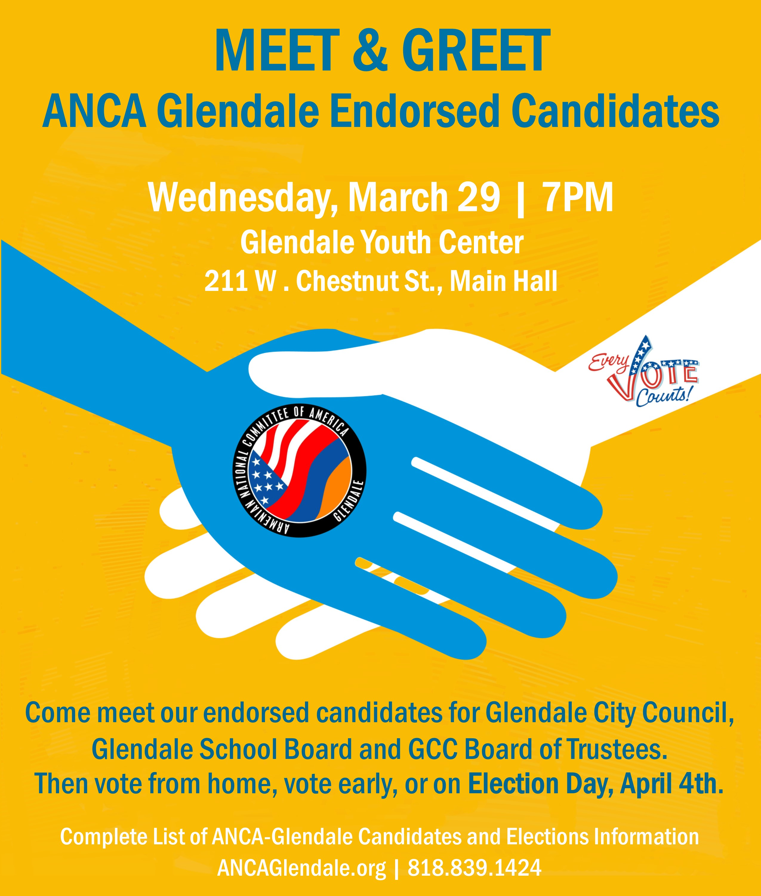Meet and greet anca glendale endorsed candidates anca glendale event navigation kristyandbryce Gallery